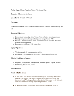 Project Name: Native American Totem Pole Lesson Plan