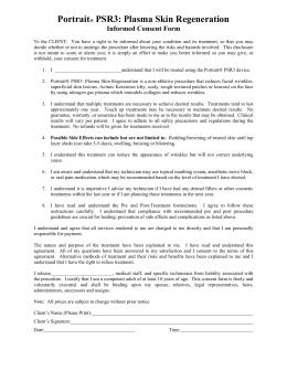Facial consent forms