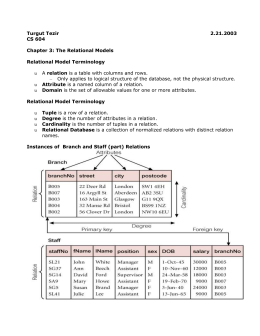 The Relational Models two