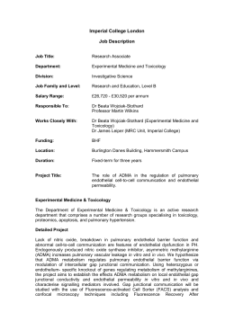 Research Associate Experimental Medicine N Toxicology