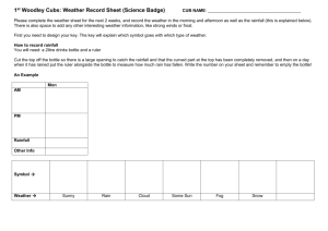 1st Woodley Cubs: Weather Record Sheet (Science Badge)