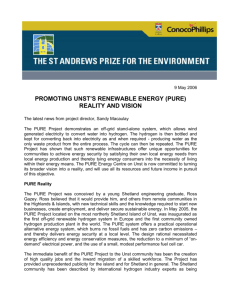 Pure Project 2006 - The St Andrews Prize for the Environment