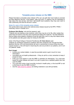 Carers leaflet pharmacy services template press release on the nms yadclub Choice Image
