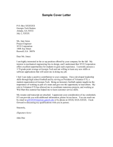 Sample Cover Letter - San Juan Unified School District