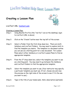 Creating a Lesson Plan