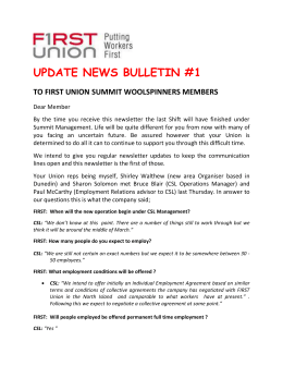 issue 1 - FIRST Union