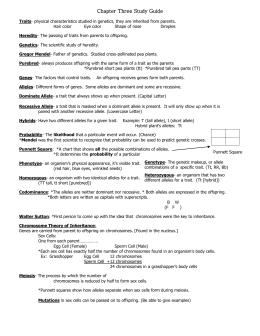 Mendelian and non genetics study guide