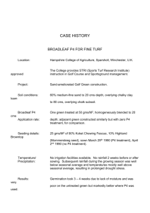 tsi3- golf green establishment case history