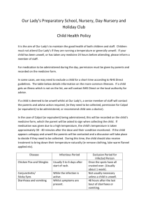 Child Health and Exclusion - Our Lady`s Preparatory School