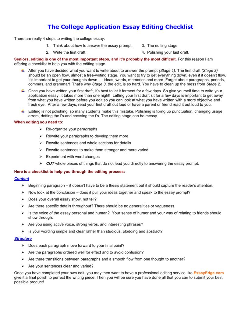 college essay editing help