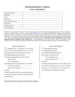 IBC Amendment Form 2015 - SUNY Downstate Office of Research