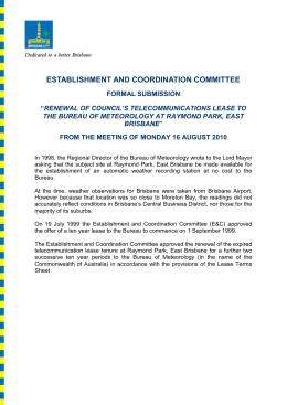 establishment and coordination committee