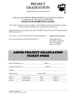 Ticket Form - Amphitheater School District