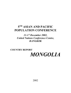 Country Report: Mongolia