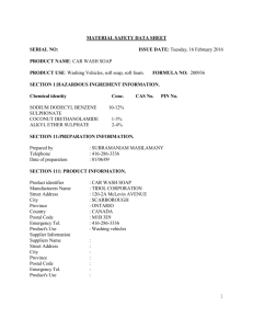 1 MATERIAL SAFETY DATA SHEET SERIAL NO: ISSUE DATE