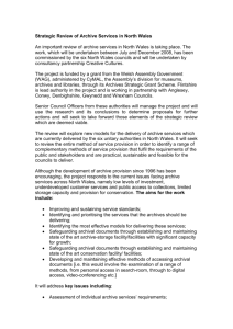 Strategic Review of the North Wales Archive Services