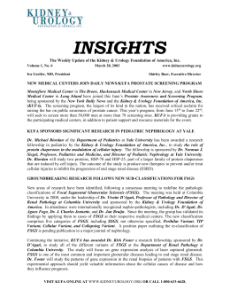 Insights06 - 3-28-03 - The Kidney & Urology Foundation of