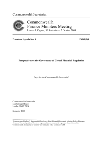 Perspectives on the Governance of Global Financial Regulation