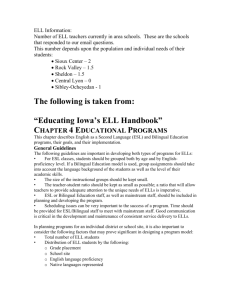 ELL Information - Sibley