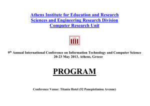 2013 - Athens Institute for Education & Research