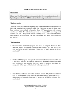 Monitoring and Evaluation Definitions Worksheet