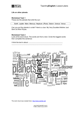 Worksheet Task 3 - TeachingEnglish