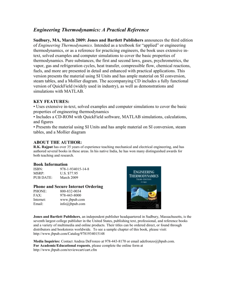 Engineering Thermodynamics: A Practical Reference