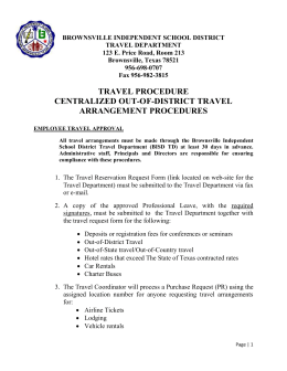 BROWNSVILLE INDEPENDENT SCHOOL DISTRICT TRAVEL