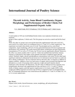 Thyroid Activity, Some Blood Constituents, Organs