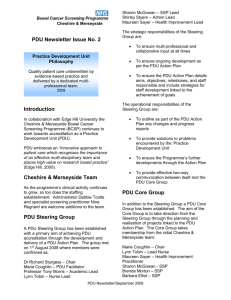 Cheshire and Merseyside Bowel Cancer Screening Newsletter 2008