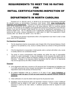 9S Rating Requirements - North Carolina Department of Insurance