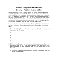 Choosing a Practicum Assessment Tool