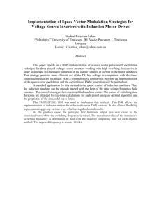 Implementation of Space Vector Modulation Strategies for Voltage