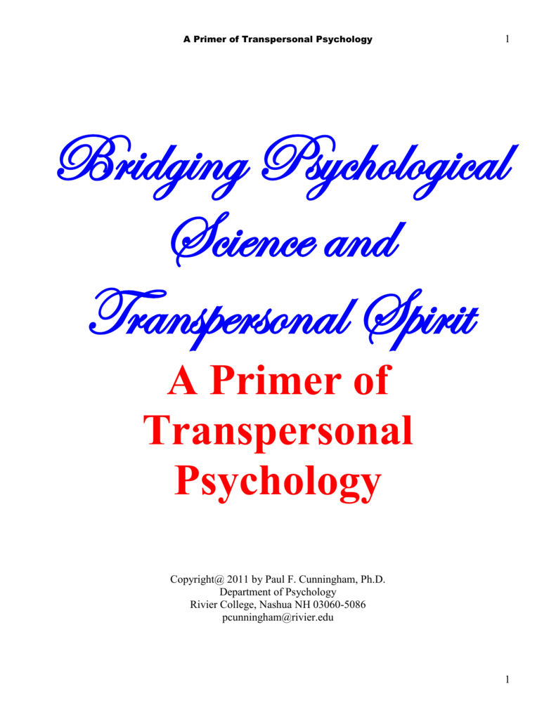Bridging Psychological Science and