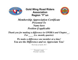 Member Appreciation Certificate