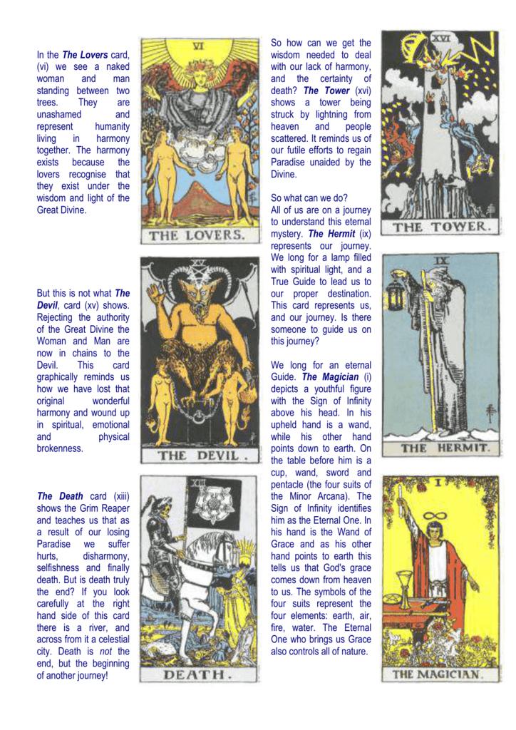 Tarot Gospel Presentation