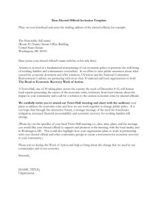 Elected Official Letter