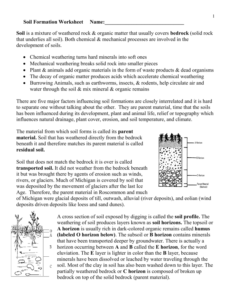 Weathering And Soil Formation Worksheet Answers Newatvs Info