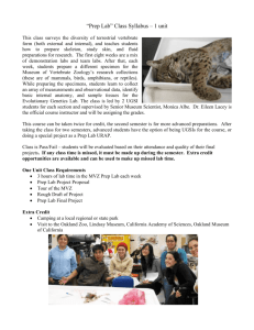 Prep Lab Class Info - Museum of Vertebrate Zoology
