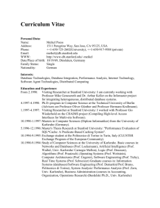 Curriculum Vitae - The Stanford University InfoLab