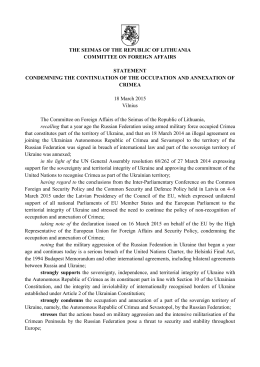 committee on foreign affairs statement condemning the continuation