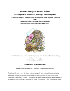 Foundations in Traditional Western Herbalism Home Study Course