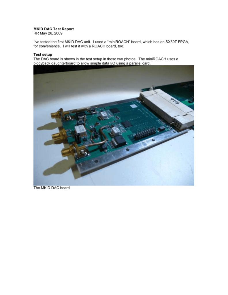 MKID DAC Test Report