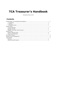 TCA Treasurer`s Handbook