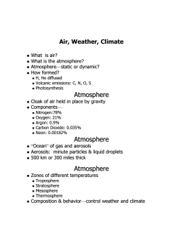 Air, Weather, Climate