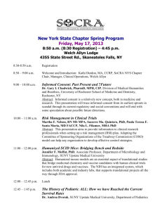 New York State Chapter Spring Program