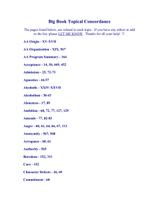 Big Book Topical Concordance