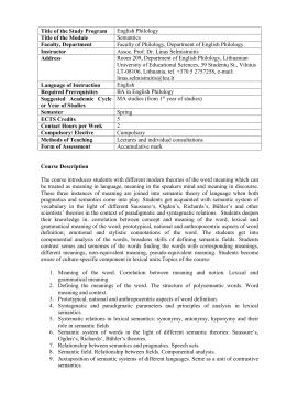 semantics the study of meaning leech pdf
