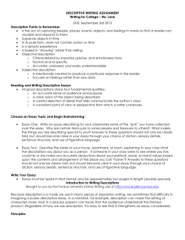 writing assignment descriptive writing assignment