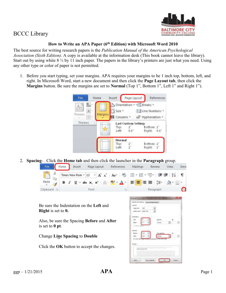 how to write an apa paper with microsoft word